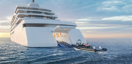 Rendering of new Viking ship
